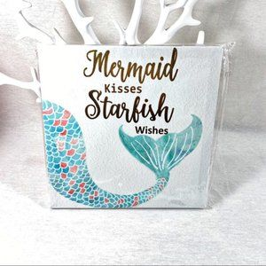 Canvas Wall Art - Mermaid Wishes - Starfish Kisses